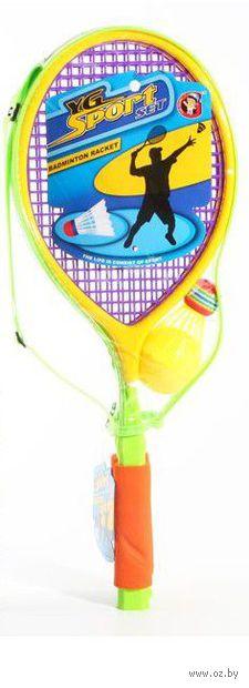 Набор для игры в теннис и бадминтон (2 ракетки, воланчик, мячик; арт. Ф53741)