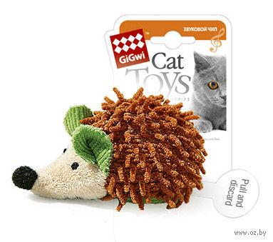 """Игрушка для кошек """"Ежик"""" со звуковым чипом (7 см)"""