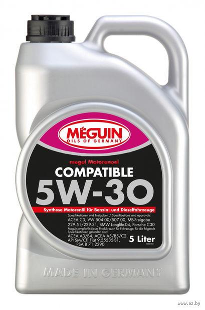 """Масло моторное """"Megol Compatible"""" 5W-30 (5 л) — фото, картинка"""