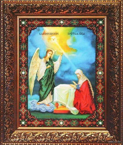 """Вышивка бисером """"Благовещение Пресвятой Богородицы"""" (273х362 мм) — фото, картинка"""