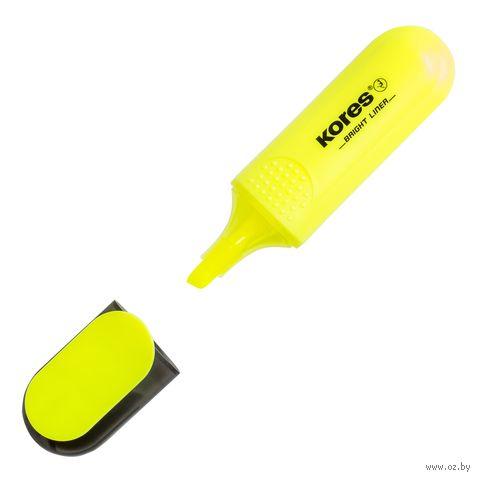 """Маркер текстовый """"Bright Liner"""" (желтый) — фото, картинка"""