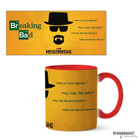 """Кружка """"Во все тяжкие. I am Heisenberg"""" (красная) — фото, картинка"""
