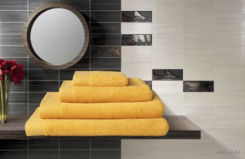 Полотенце махровое (50x100 см; желтое) — фото, картинка