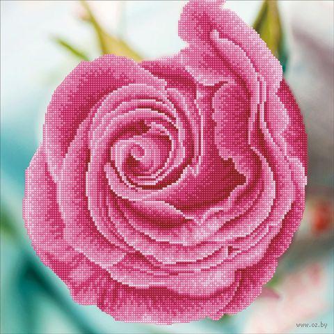 "Алмазная вышивка-мозаика ""Розовый бутон"" (420х420 мм) — фото, картинка"