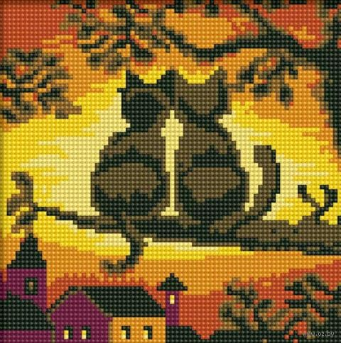 "Алмазная вышивка-мозаика ""Две кошки"" (200х200 мм) — фото, картинка"