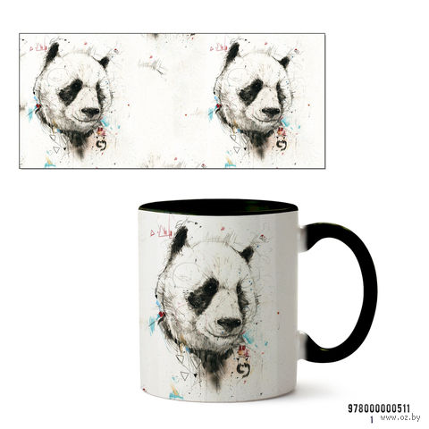 """Кружка """"Панда"""" (арт. 511, черная)"""