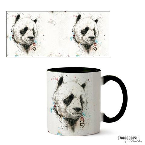 """Кружка """"Панда"""" (черная; арт. 511) — фото, картинка"""