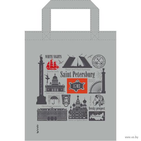 """Сумка """"Санкт-Петербург"""" (серая; 34x41 см) — фото, картинка"""