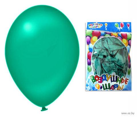 Набор шариков резиновых надувных (зелёный; 100 шт.) — фото, картинка