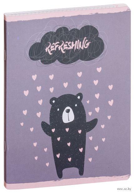 """Тетрадь полуобщая в клетку """"Bear"""" (48 листов; в ассортименте) — фото, картинка"""