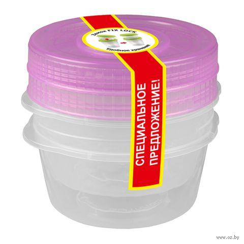 """Контейнер для хранения продуктов """"Кристалл"""" (2 шт.; 0,6 л) — фото, картинка"""