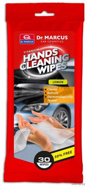 """Салфетки влажные для очищения рук """"Лимон"""" (30 шт.) — фото, картинка"""