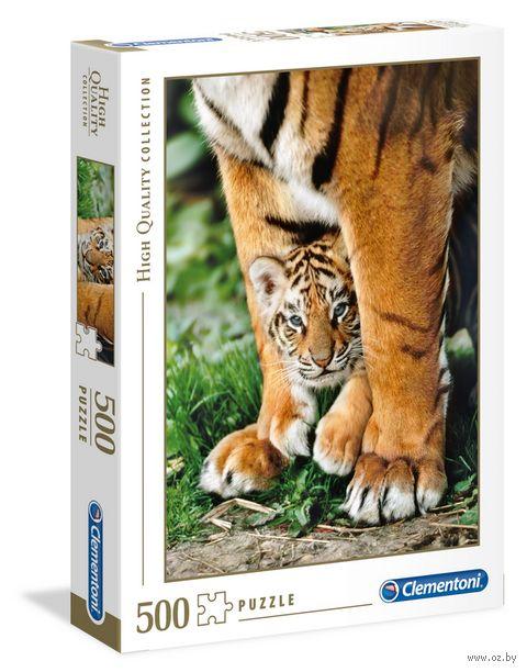 "Пазл ""Тигры. Мамина защита"" (500 элементов) — фото, картинка"