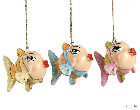 """Ёлочная игрушка """"Рыбка с красными губами"""" — фото, картинка"""