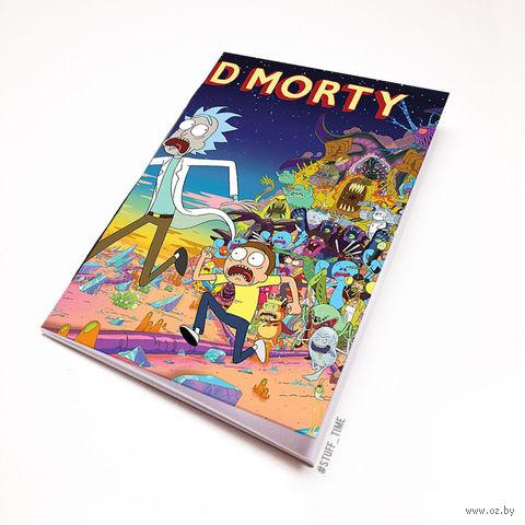 "Блокнот белый ""Рик и Морти"" А5 (657)"