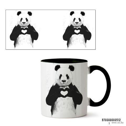 """Кружка """"Панда"""" (черная; арт. 512) — фото, картинка"""