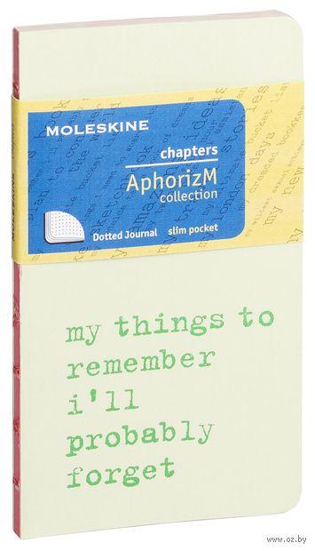 "Записная книжка в точку ""Chapter. My Things to Remember"" (75х140 мм; светло-зеленая) — фото, картинка"