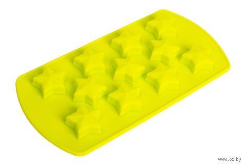 """Форма для льда силиконовая """"Звездочки"""" (зеленая) — фото, картинка"""