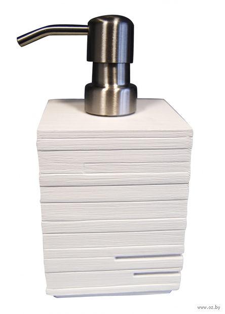 """Дозатор для жидкого мыла """"Brick"""" (430 мл; белый) — фото, картинка"""