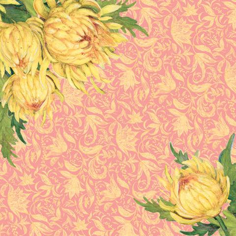 """Бумага для скрапбукинга """"Весна. Пионы"""" (310х310 мм; 25 листов)"""