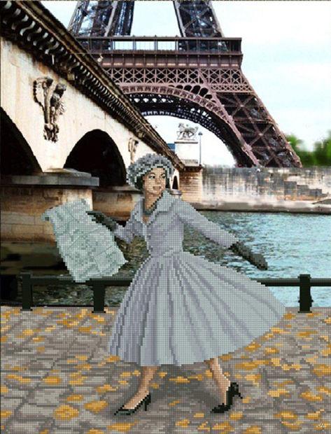 """Вышивка крестом """"Опять в Париже листопад"""""""