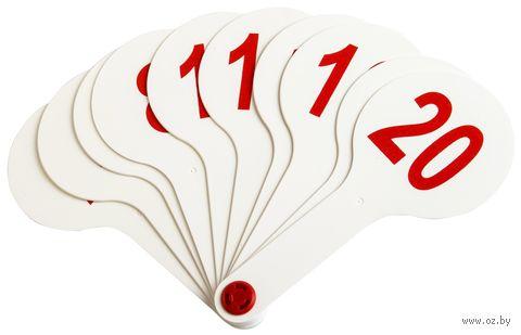 Веер школьный (цифры; арт. DV-7495) — фото, картинка