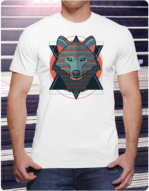 "Футболка мужская ""Волк"" (размер 48; арт. 2) — фото, картинка"