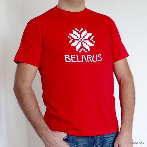 """Футболка мужская S """"Belarus"""" (красная)"""