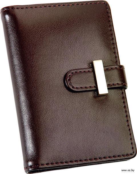 Футляр для визиток, кредитных или дисконтных карт (коричневый) — фото, картинка