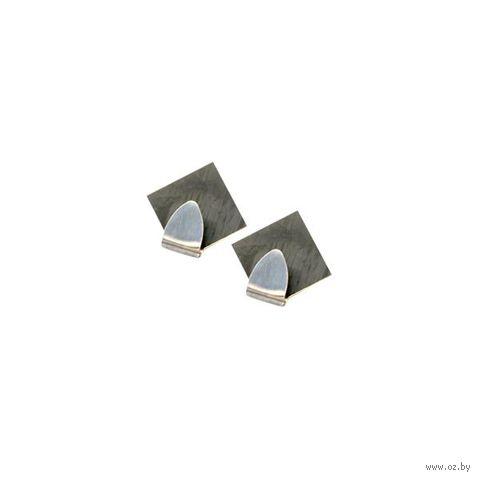 Крючок металлический на скотче (2 шт.; 50 мм) — фото, картинка