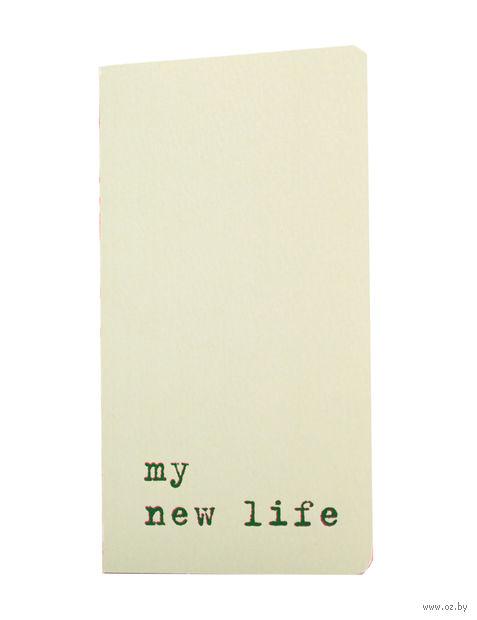 "Записная книжка в точку ""Chapter. My New Life"" (75х140 мм; светло-зеленая) — фото, картинка"