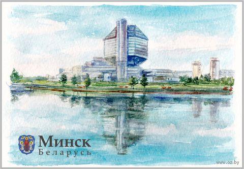 """Магнит сувенирный """"Национальная библиотека"""" (арт. 1410)"""