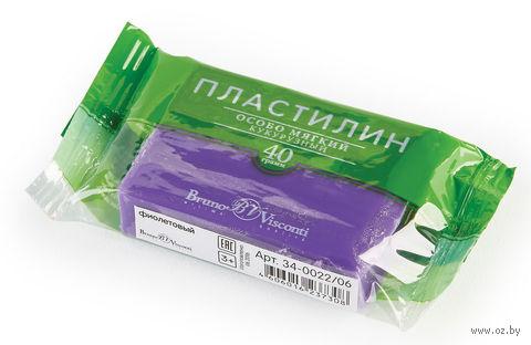 Пластилин особо мягкий кукурузный (40 г; фиолетовый) — фото, картинка