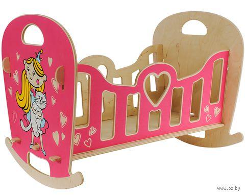 """Кроватка-качалка для кукол """"Принцесса"""" — фото, картинка"""