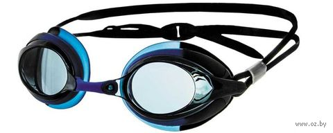 Очки для плавания (голубо-чёрные; арт. N302) — фото, картинка