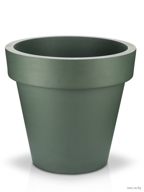"Кашпо ""Fulya"" (29,5 см; темно-зеленое) — фото, картинка"