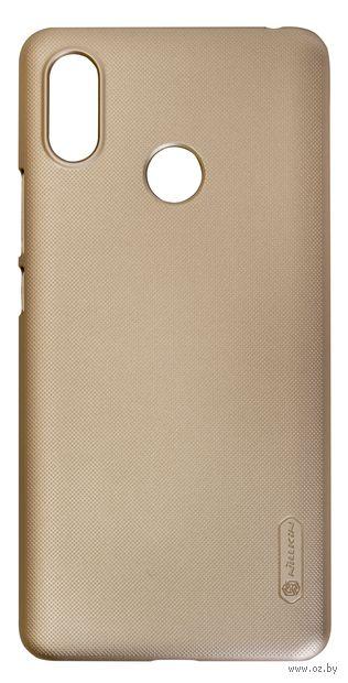 Чехол Nillkin для Xiaomi Mi Max 3 (золотой) — фото, картинка