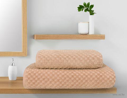 """Полотенце махровое """"Керби"""" (50x90 см; капучино) — фото, картинка"""