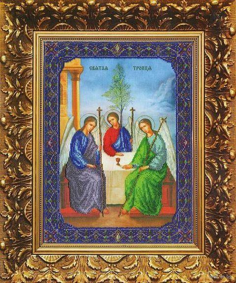 "Вышивка бисером ""Пресвятая Троица"" (270х365 мм) — фото, картинка"