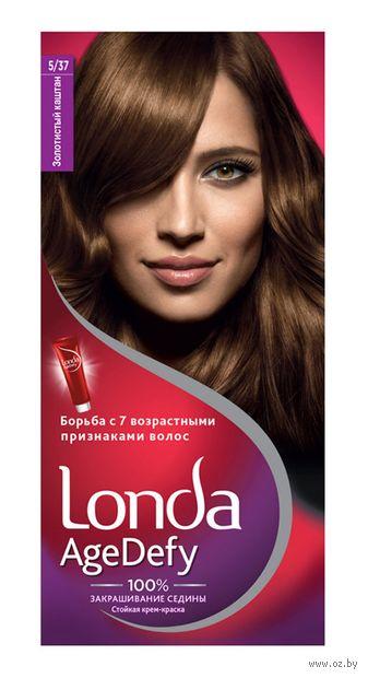 """Крем-краска для волос """"Londa AgeDefy"""" тон: 5/37, золотистый каштан — фото, картинка"""