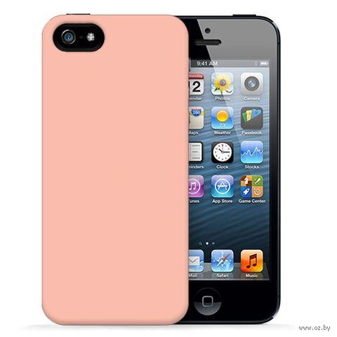 "Чехол для iPhone 5/5S ""Spectrum - Salmon"" (розовый) — фото, картинка"