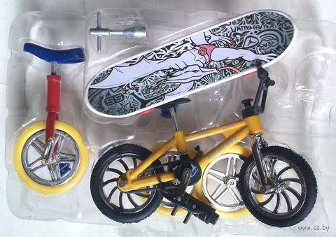 """Игровой набор """"Finger sport: Bike + скейт + моноцикл"""""""