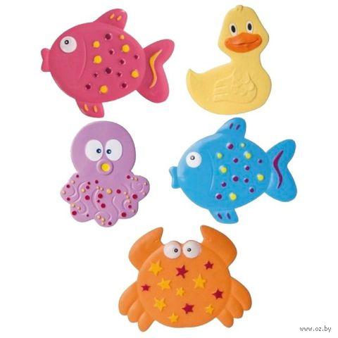 """Коврик для ванночки """"Цветной океан"""" (5 шт.) — фото, картинка"""