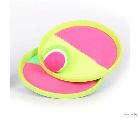 Набор для игры с тарелками и мячиком на липучках — фото, картинка