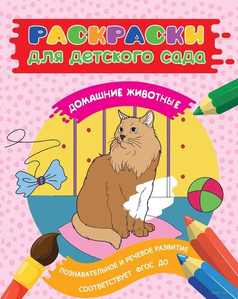 Раскраски для детского сада. Домашние животные — фото, картинка