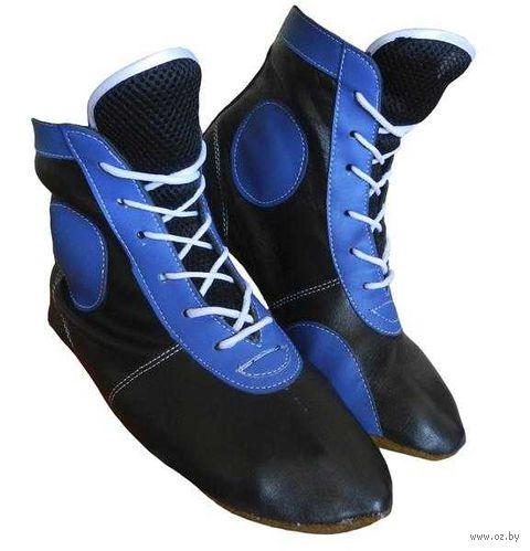 Самбовки ASSH-01 (р. 43; кожа; синие) — фото, картинка