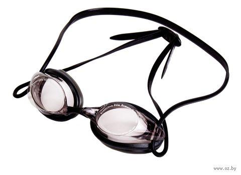 Очки для плавания (чёрно-янтарные; арт. N402) — фото, картинка