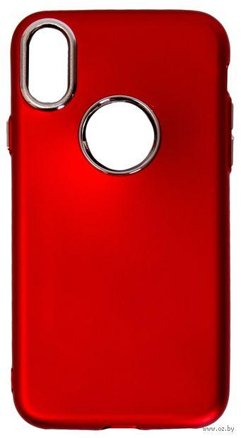 Чехол Biggo для iPhone X (красный) — фото, картинка