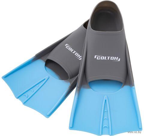Ласты тренировочные CF-01 (р. 36-38; серо-голубые) — фото, картинка