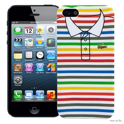 "Чехол для iPhone 5/5S ""Thin Stripes"" (белый) — фото, картинка"